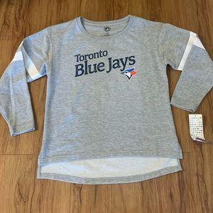 Toronto Blue Jays Grey Logo Long-sleeved Crewneck